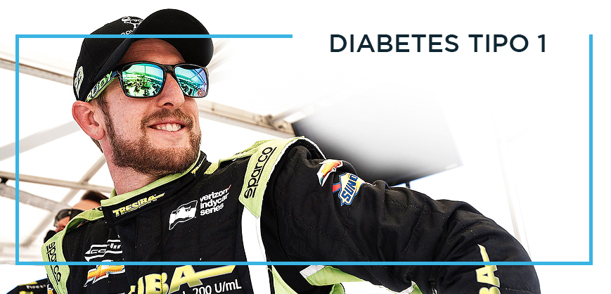 piloto charlie kimball fórmula indy clube do diabetes