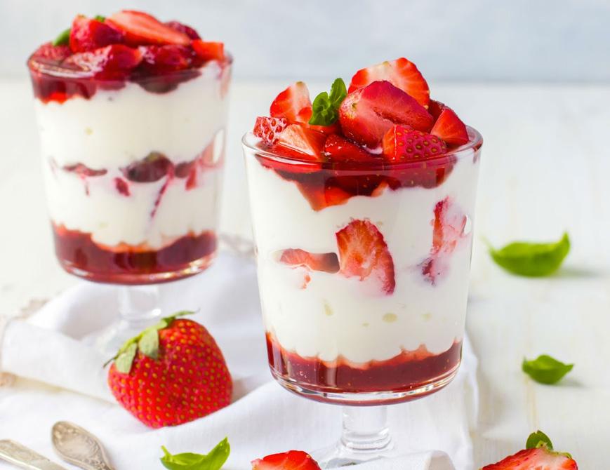 Receitas zero açúcar pavê de morango diet Clube do Diabetes