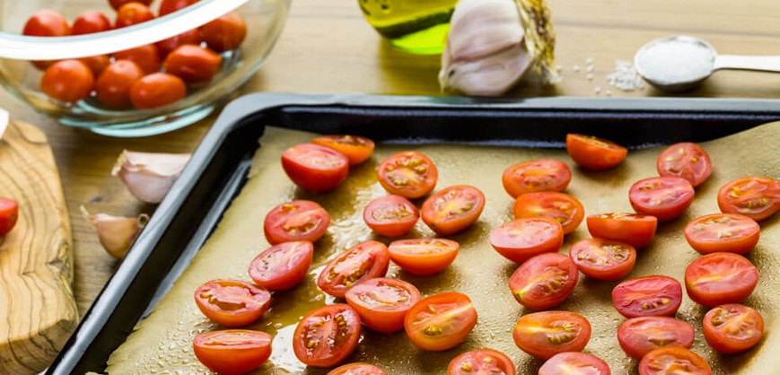 Receitas para ceia de Natal tomate confitado ao forno Clube do Diabetes